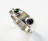 Sterling Silver Mother's Ring with Initials and Birthstones