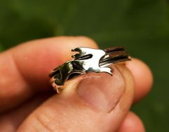 Silver Hare Ring