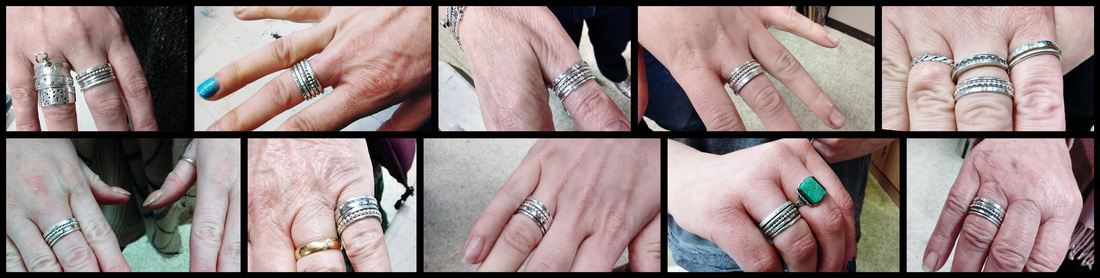 My students completed silver stacking rings