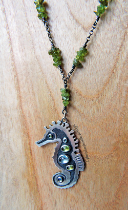 Sterling silver and picasso jasper necklace pendant