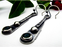 Silver and Gemstone Handcrafted Earrings
